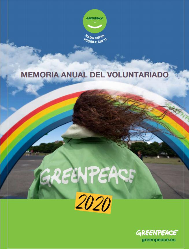 Memoria Anual del Voluntariado de Greenpeace (2021)
