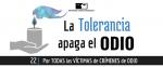 La tolerancia apaga el odio
