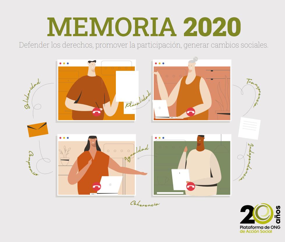 Memoria 2020 de la Plataforma de ONG de Acción Social